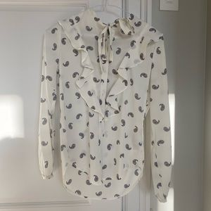 Abercrombie & Fitch patterned blouse size XS